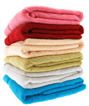Multi-coloured towels